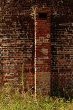 Aged Bricks texture outside an oven royalty free stock photo