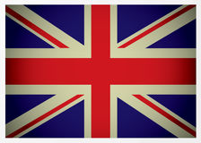 Aged british flag. Aged great british flag icon with red white and blue colours Stock Images