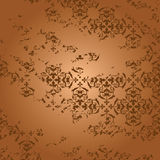 Aged brown background with gradient - vector Royalty Free Stock Photos