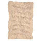 Aged brown crumpled Paper with line Stock Images