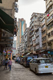 Aged buildings in Kowloon Stock Images