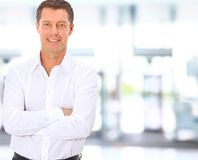Aged business man Royalty Free Stock Photography