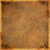 Aged canvas. Vintage brown canvas with space for text Royalty Free Stock Photos