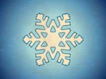 Aged card with snowflake Stock Photography