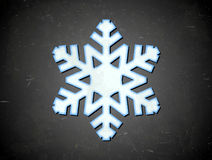 Aged card with snowflake Royalty Free Stock Photo