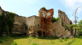 Aged castle, architecture building in the western part of Ukrain Royalty Free Stock Photo