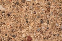 Aged cement wall texture, rock background, cracked surface. For web site or mobile background Royalty Free Stock Photo