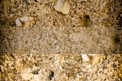 Aged cement wall texture, rock background, cracked surface. For web site or mobile devices Stock Photos