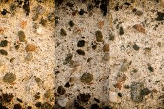 Aged cement wall texture, rock background, cracked surface. For web site or mobile devices Royalty Free Stock Images