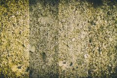 Aged cement wall texture, rock background, cracked surface. For web site or mobile devices Royalty Free Stock Photo
