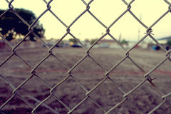 Aged chain link fence Royalty Free Stock Image