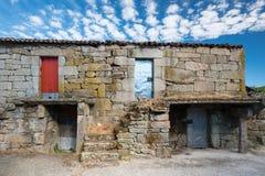 Aged characteristic farmhouse in Galicia Stock Photos