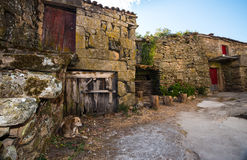 Aged characteristic farmhouse in Galicia Royalty Free Stock Images