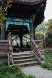 Aged chinese gazebo,Chengdu,China Royalty Free Stock Photography