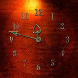 Aged clock Stock Image