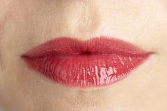 aged close extreme lips middle s up woman Στοκ φωτογραφία με δικαίωμα ελεύθερης χρήσης