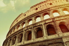 Aged coliseum rome. Aged photo  of the famous coliseum in rome Stock Image