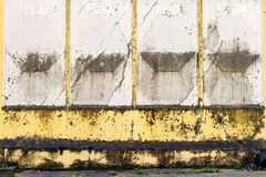 Aged concrete fence Royalty Free Stock Images