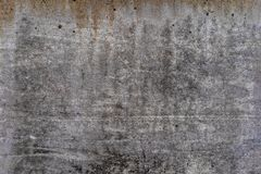 Aged concrete with orange stains patterns and cracks - high quality texture / background stock image