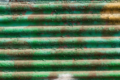Aged corrugated sheet Royalty Free Stock Photos