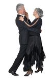Aged couple dancing Stock Photo