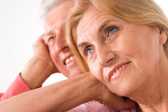 Aged couple portrait Royalty Free Stock Photo