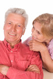 Aged couple portrait Stock Photos