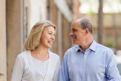 Aged  couple at vacation trip Royalty Free Stock Photo