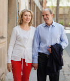 Aged  couple at vacation trip Stock Photo