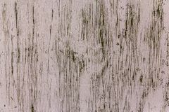 Aged and cracked light painted wood texture royalty free stock photos