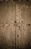 Aged dark vintage wooden door as background Royalty Free Stock Image
