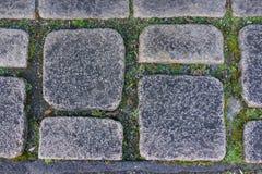 Aged dirt dark granite stone rock floor tile as background in ce. Ntral japan Royalty Free Stock Photos