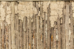 Aged dirt Wood background with staples Royalty Free Stock Photography
