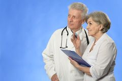 Aged doctors Stock Photography