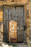 Aged door stock photo