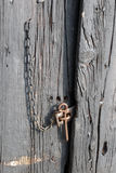 Aged door at house Stock Photography