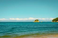 Aged effect image Kaiterteri Beach Tasman New Zealand royalty free stock photography