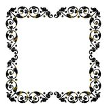 Aged empty picture frame in black color Stock Image