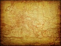Aged Europa map Stock Photo