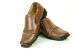 Aged fashion shoes for men Royalty Free Stock Photos