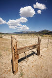 Aged Fence and Clouds Royalty Free Stock Photo