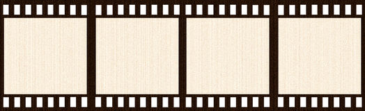 Aged Film Strip. Isolated in white Stock Photos