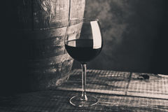 Aged fine wine glass Royalty Free Stock Images