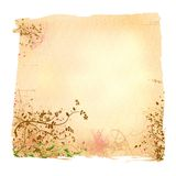Aged floral paper. Illustration with fractals and grunges Royalty Free Stock Image