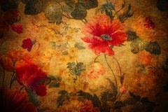 Aged Floral Texture Stock Image