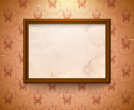 Aged frame on the wall Royalty Free Stock Photography
