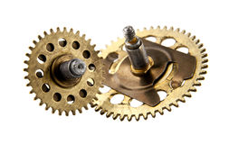 An aged gear from a clock Royalty Free Stock Photography