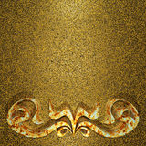 Aged gold rusty ornament background Royalty Free Stock Photo