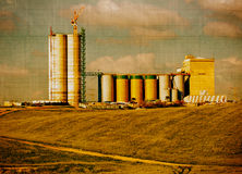 Aged grain silo Royalty Free Stock Photo