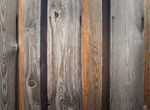 Aged grainy wooden planking Stock Photography